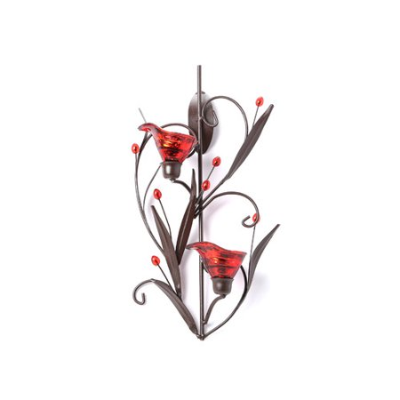 Zingz & Thingz Lily Iron and Glass Candle Sconce