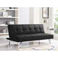 Lifestyle Solution Serta Chelsea 3-Seat Multi-function Upholstery Fabric Sofa, Black