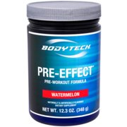 BodyTech PreEffect PreWorkout Formula, Watermelon (12.3 Ounce Powder)