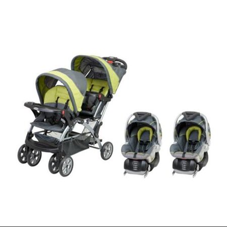 Baby Trend Sit N Stand Inline Double Baby Stroller & Twin Car Seat ...