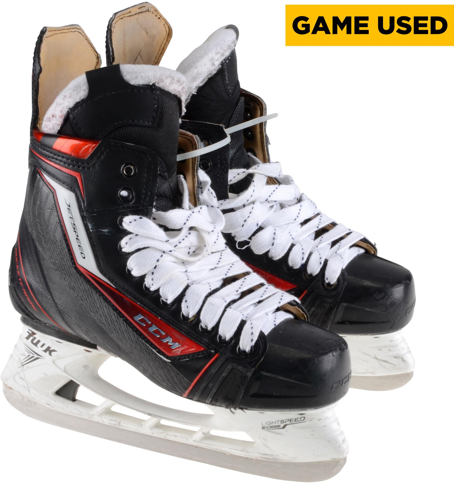 Derek Mackenzie Florida Panthers Game-Used CCM Skates from the 2017-18 NHL Season Fanatics Authentic Certified by Fanatics Authentic