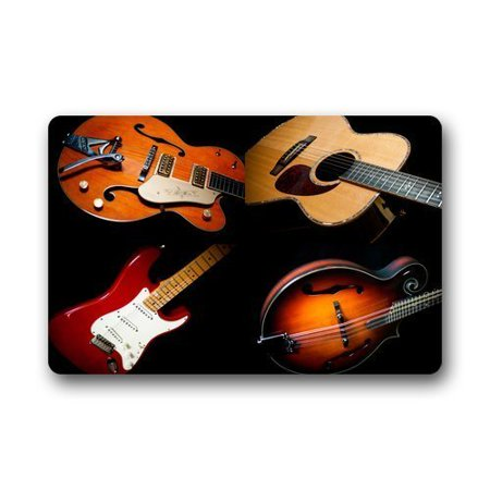 Music Rug (WinHome Music Instruments Firing Guitar Art Doormat Floor Mats Rugs Outdoors/Indoor Doormat Size 23.6x15.7)