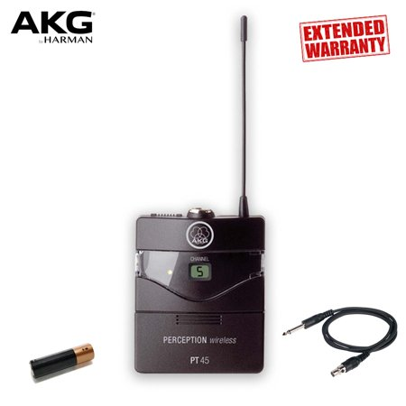 AKG Perception PT 45 Wireless Pocket Transmitter - Frequency A / 530 - 560 MHz - Includes - 2-Year Extended - 27 Mhz Am Transmitter
