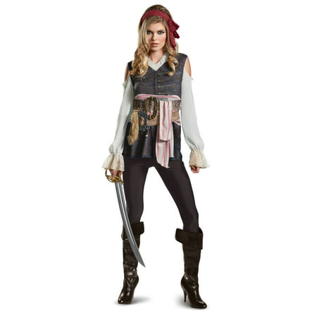 Disney Pirates Of The Caribbean 5 Jack Sparrow Adult Womens Costume (Woman Pirate Costumes)