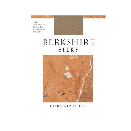 (Berkshire Women's Silky Extra Wear Sheer Control Top Pantyhose - Reinforced Toe 4428 , Pale Taupe, 2)