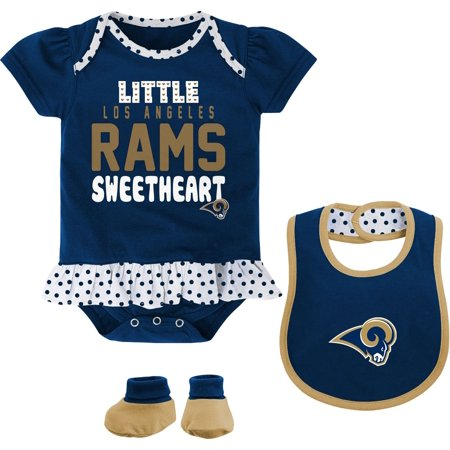 fbaa23484 UPC 655420442741 product image for NFL Team Apparel Infant Los Angeles Rams  Bib   Booty Set ...