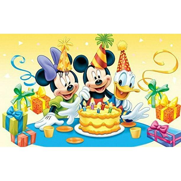 Strange Mickey Minnie Mouse Donald Disney Birthday Party Edible Image Funny Birthday Cards Online Alyptdamsfinfo