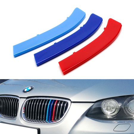 Bmw 3 Series Coupe - iJDMTOY Exact Fit ///M-Colored Grille Insert Trims For 2007-2010 BMW E92/E93 Pre-LCI 3 Series 2-Door Coupe 325i 328i 330i 335i with 14-Beam ONLY