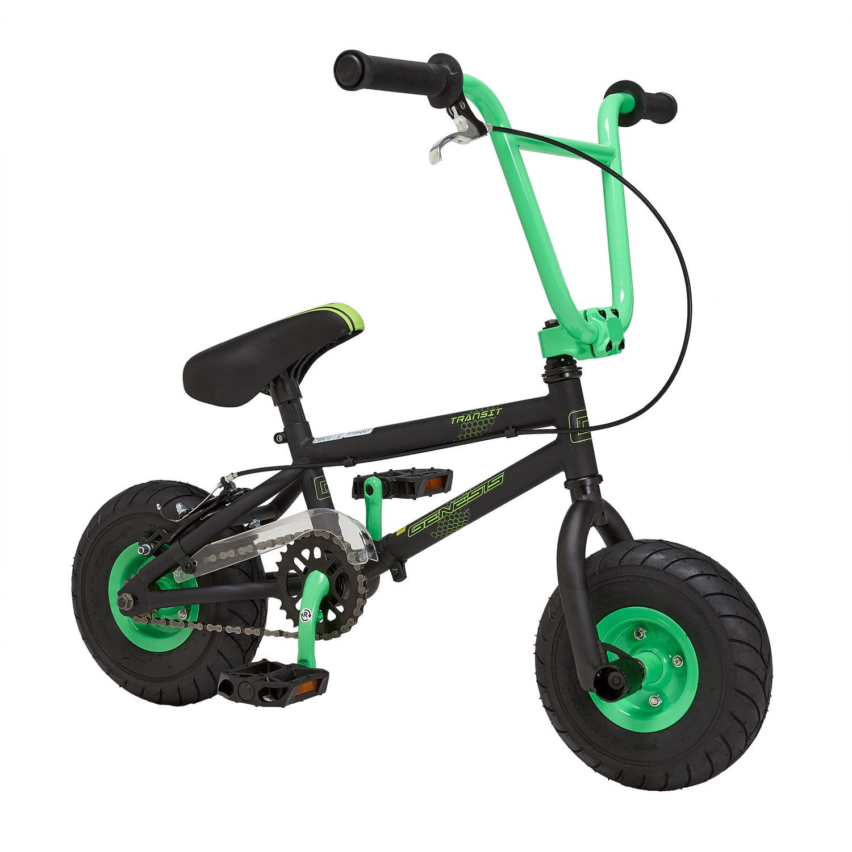 green mini bmx bike 10 hi tensile steel frame full size. Black Bedroom Furniture Sets. Home Design Ideas