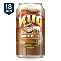 Mug Root Beer, 12 oz Cans, 18 Count