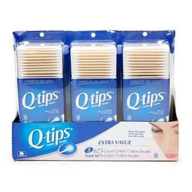 Q-Tips UNI-3160869-24 Q-Tip Cotton Swabs - 625 Count, Case Of 24