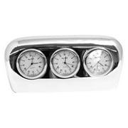 Bey-Berk International Triple Time Zone Desk Clock
