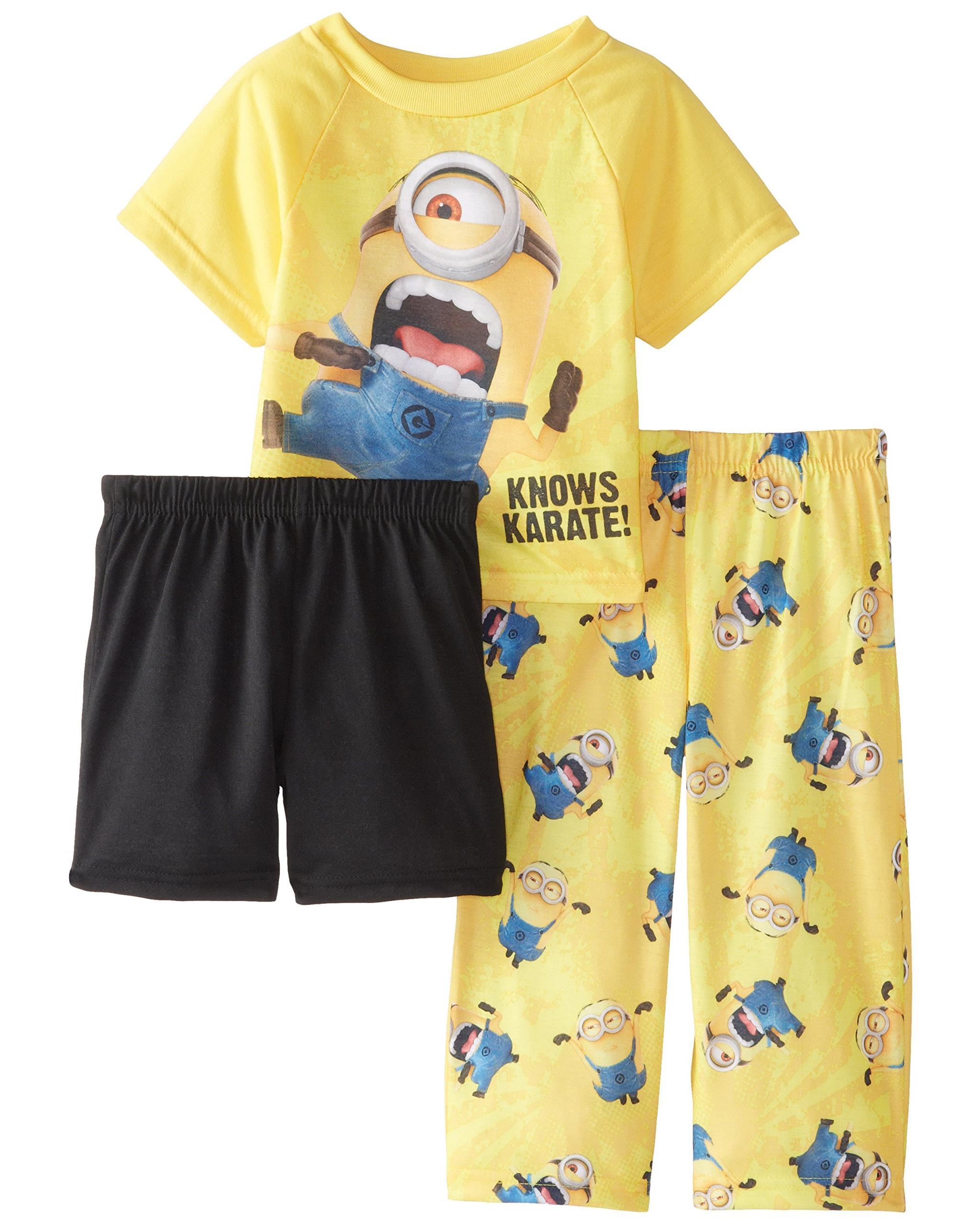 "Despicable Me Little Boys' Toddler ""Karate Minion"" 3-Piece Pajama Set"