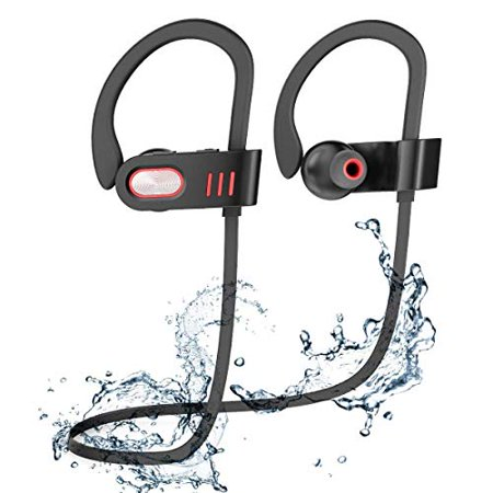 Bluetooth Headphones, Best Wireless Sports Earphones HD Stereo Sweatproof Earbuds with Mic Ergonomic Design for Gym Running (Best Vlogging Camera With Mic)