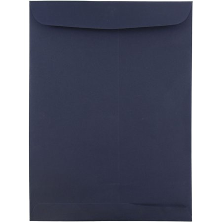 JAM Paper® 9 x 12 Open End Catalog Envelopes with Gum Closure - Navy Blue - (Navy Catalog Number)