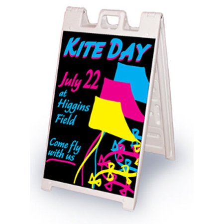 Black Wet Erase Marker Board for Signicade or Marquee Sign Stands.