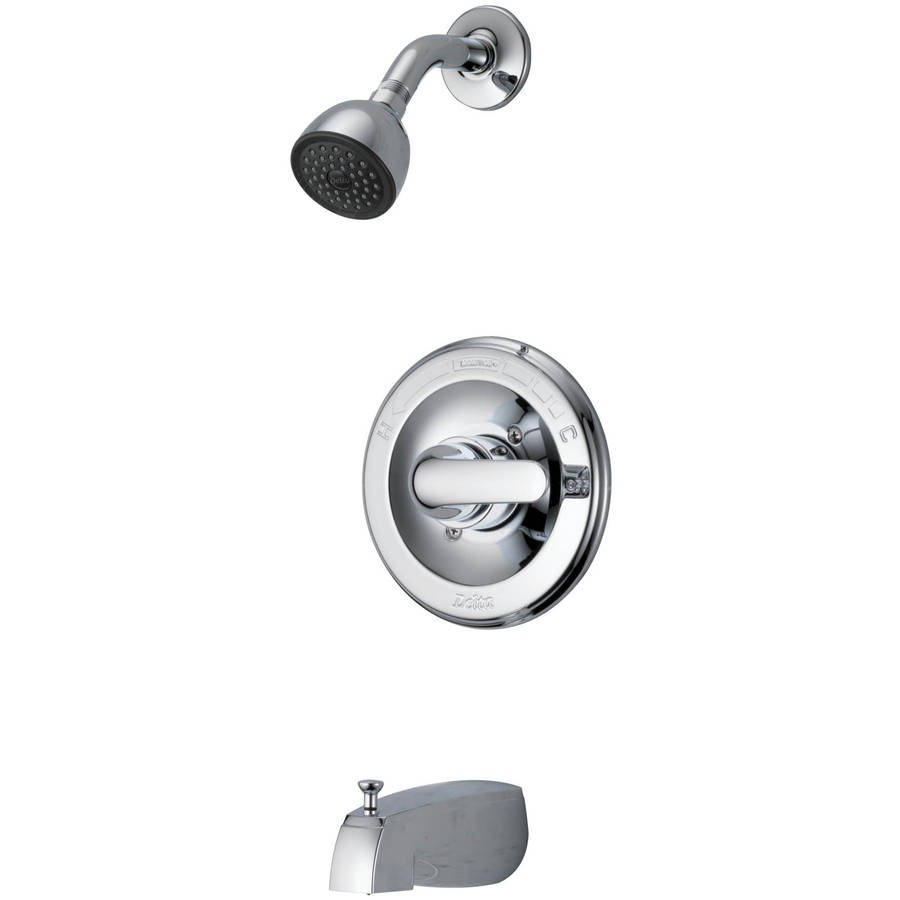 delta faucet company chrome classic monitor scald guard tub and shower faucet - Shower Faucets