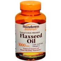 2 Pack - Sundown Naturals Flaxseed Oil 1000 mg Softgels 100 Soft Gels