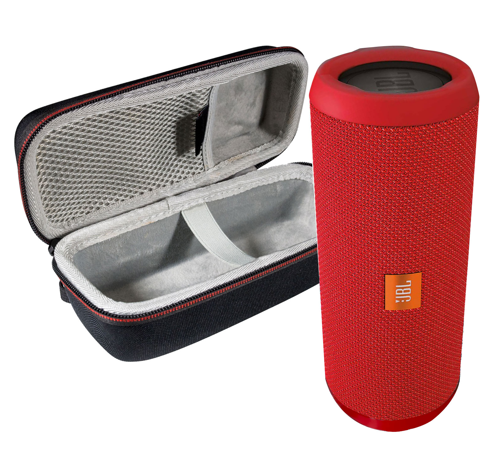 JBL FLIP 3 Red Portable BT Speaker w/Case
