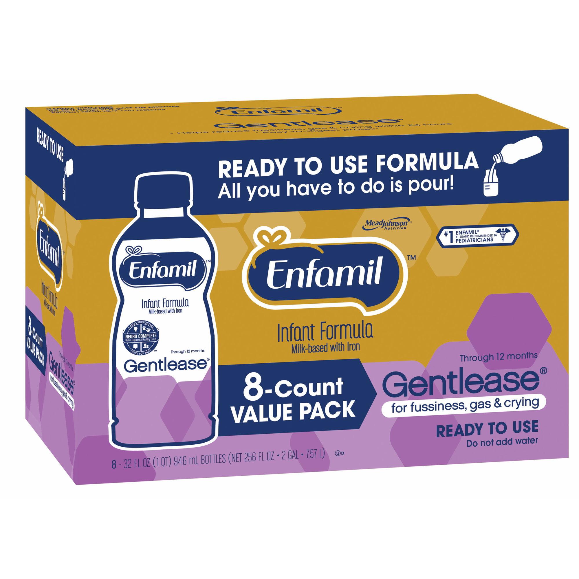Enfamil Gentlease Ready to Use Infant Formula, 8 pk./32 f...