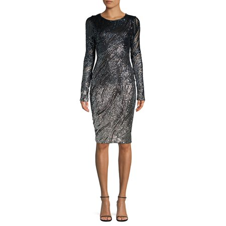 Sequin-Embellished Sheath Dress