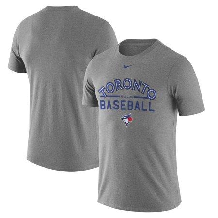 Toronto Blue Jays Nike Away Practice T-Shirt - Heathered Gray