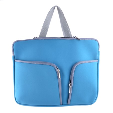 13 Inch PC Polyester Rectangle Shaped Zipper Universal Tablet Sleeve Bag Blue - image 3 of 3