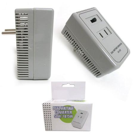 Deluxe 1650 Watt Dual Converter Travel Voltage Adapter Plug Power Kit Ac Us Eu