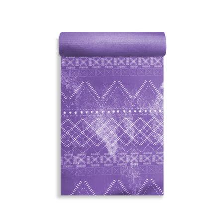 Oak And Reed Printed Yoga Mat Purple Aztec 4mm Walmart Com