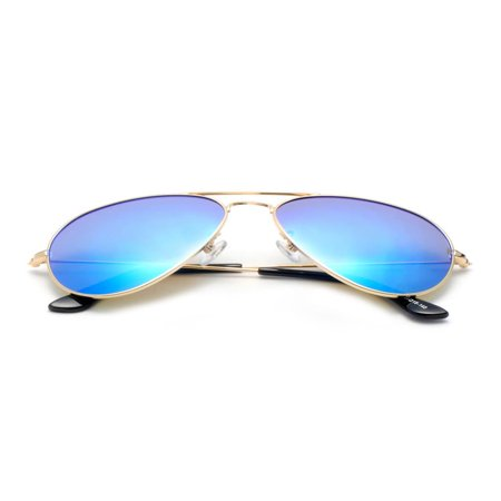 ORE International Aviator Sunglasses with Aqua Blue Tinted Lens 63MM