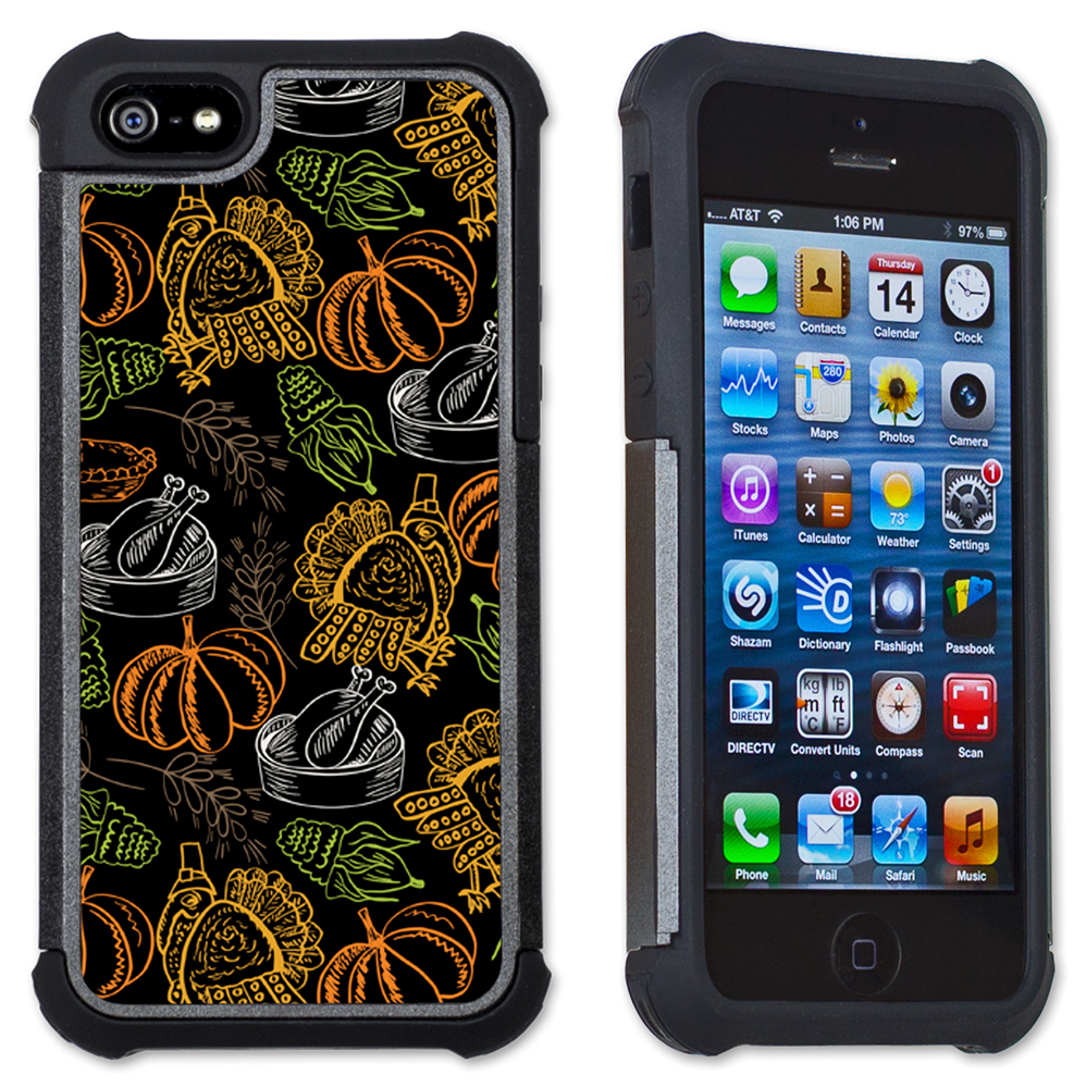 Maximum Protection Cell Phone Case / Cell Phone Cover with Cushioned Corners for iPhone 5 & iPhone 5S - Thanksgiving