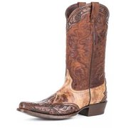 Stetson Western Boots Mens Outback Tooling Brown 12-020-6104-0729 BR