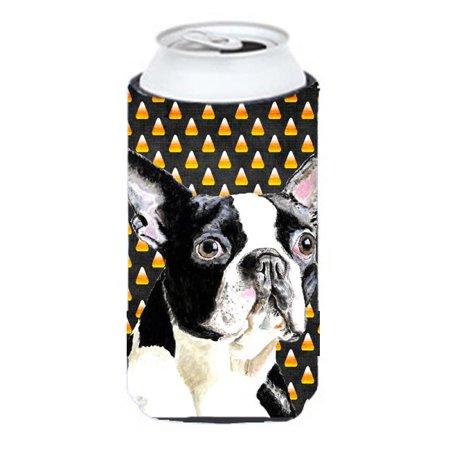 Boston Terrier Candy Corn Halloween Portrait Tall Boy   Hugger - Halloween Events In Boston