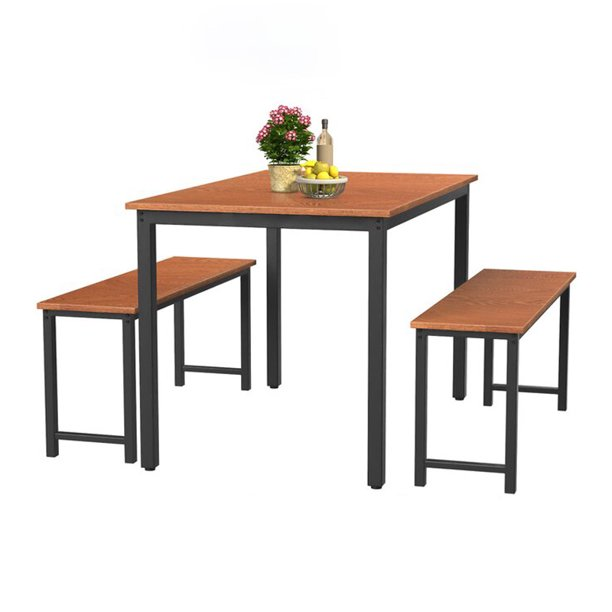 Dining Room Table Set, 3 Pieces Farmhouse Kitchen Table Set with