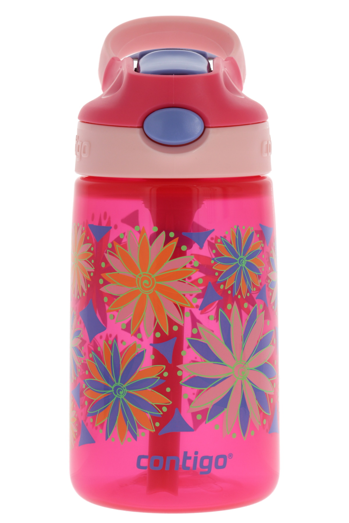Cherry Blossom Pink BPA Free Drinks Bottle for Children Leakproof Flask Ideal for School and Sports 420 ml Contigo Gizmo Flip Autospout Kids Water Bottle with Flip Straw