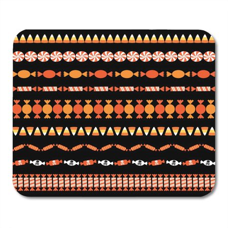 KDAGR Clipart Corn Halloween Candy Border Patterns Autumn Edge Mousepad Mouse Pad Mouse Mat 9x10 inch