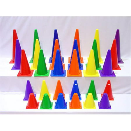 Everrich Evb 0015 9 Inch Plastic Cones   Set Of 6