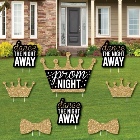 Prom - Yard Sign and Outdoor Lawn Decorations - Prom Night Party Yard Signs - Set of 8 - Decorations For Prom