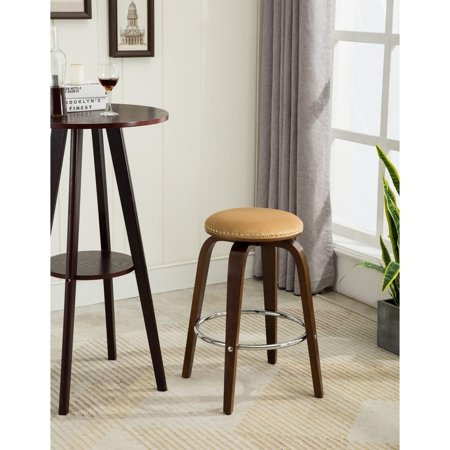 Porthos Home Rocco Wood Counter Stools With Solid Beech Wood Legs, Soft Suede Upholstery, Stylish Nailhead Trim And Metal Footrest (Set Of 2 Counter Stools Per Order) (Stylish Solid Wood)