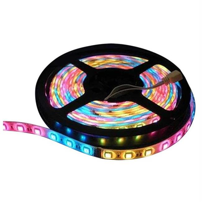 Lunasea Lighting LLB-453M-01-02 Lunasea Flexible Strip LED - 2M with Connector - Red-Green-Blue - 12V