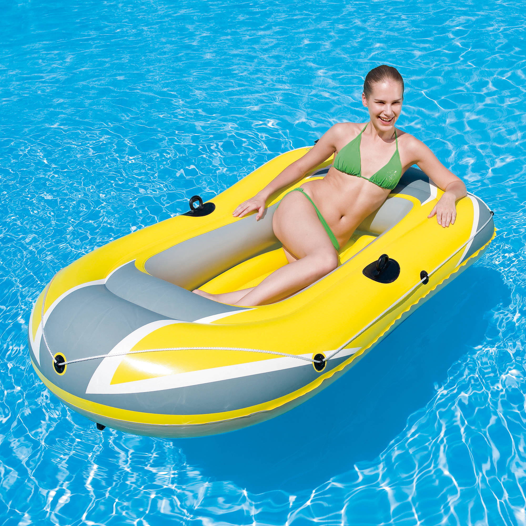 Ozark Trail Raft 2-Person Inflatable Boat with Grab Rope