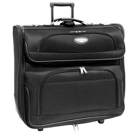 Traveler's Choice Travel Select Rolling Garment Bag, Black ()