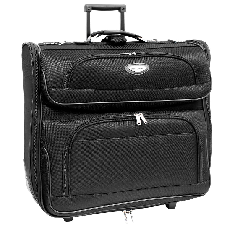 Traveler's Choice Travel Select Rolling Garment Bag, Black