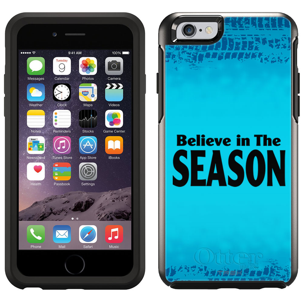 SKIN DECAL FOR OtterBox Symmetry Apple iPhone 6 Case - Belive in the Season DECAL, NOT A CASE