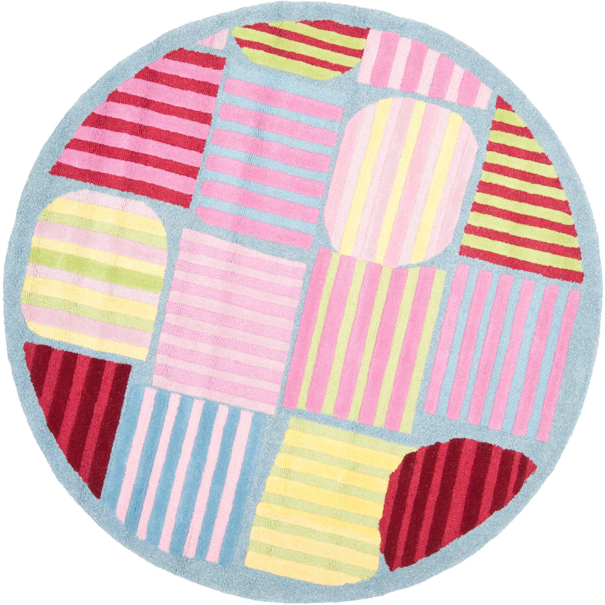 Safavieh Kids Melany Geometric Stripes Round Area Rug