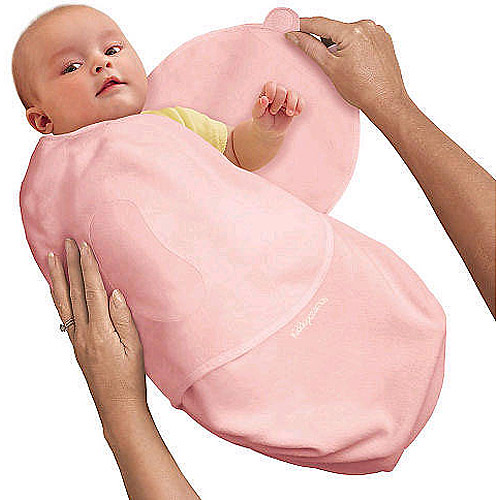 Summer Infant SwaddleMe Cotton Swaddling Blanket, Pink, Small