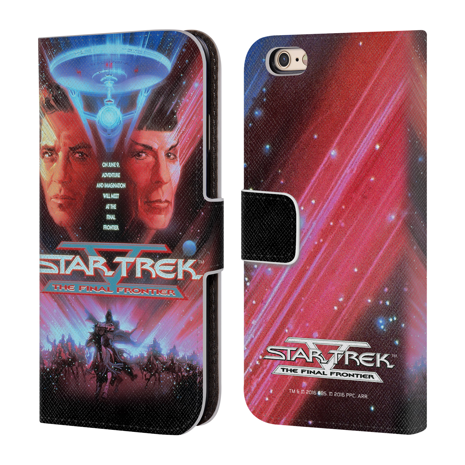 OFFICIAL STAR TREK MOVIE POSTERS TOS LEATHER BOOK WALLET CASE COVER FOR APPLE IPHONE PHONES
