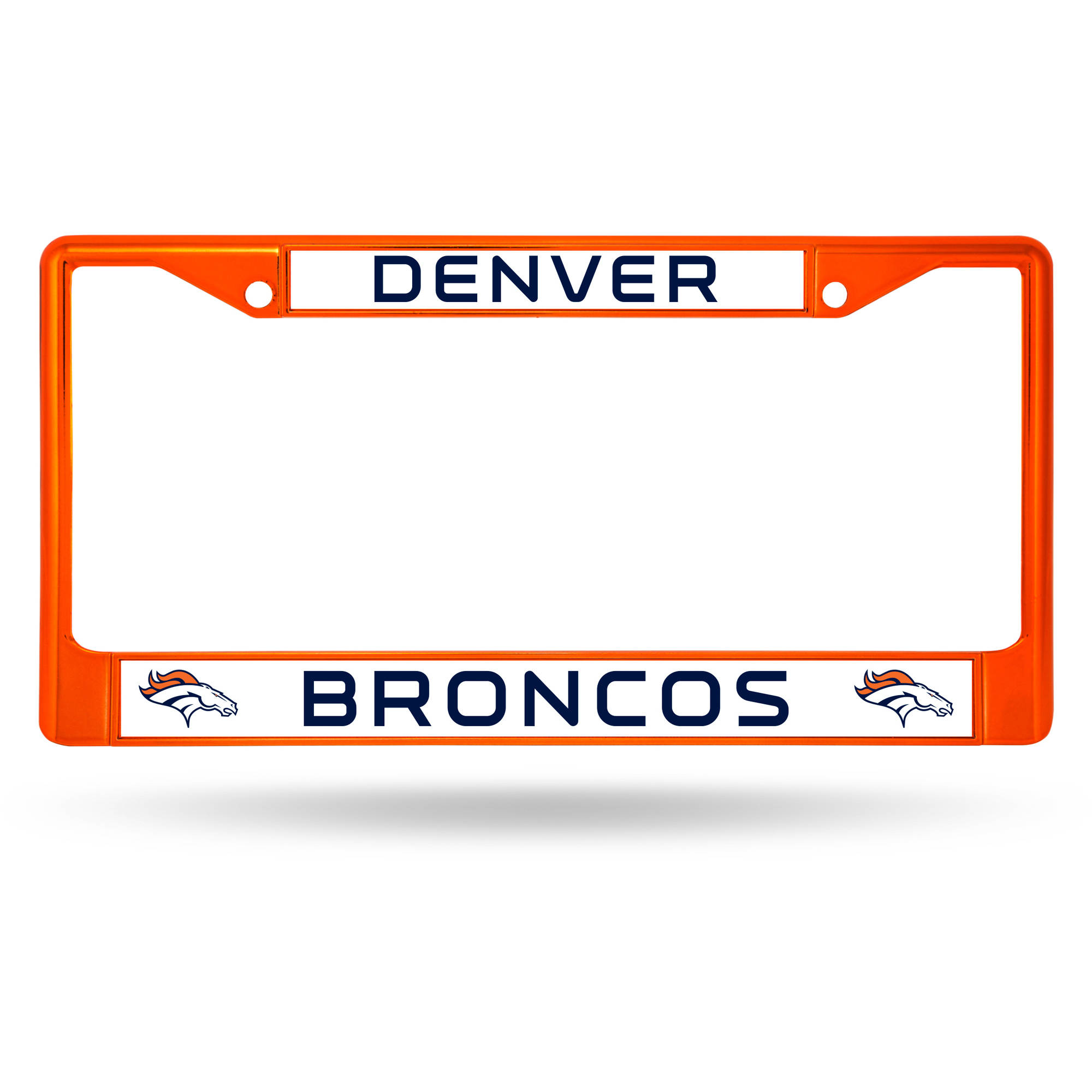 Rico Industries NFL Color License Plate Frame, Denver Broncos