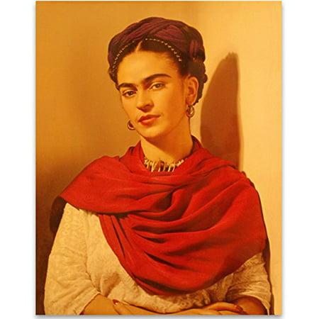 Lone Star Art Frida Kahlo Warm Portrait - 11x14 Unframed Print - Perfect Southwest Home Decor