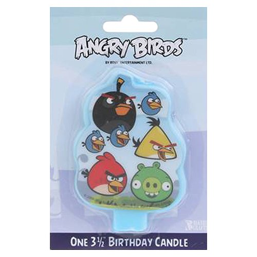 Bakery Crafts Angry Birds Birthday Candle, 3.5""